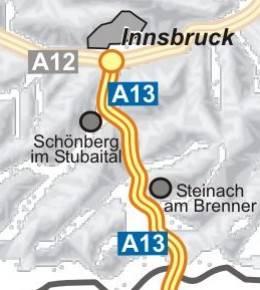 ÖAMTC: Verkehrsservice - Brenner Autobahn (A 13) Innsbruck ...